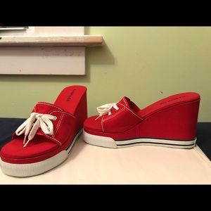 Rampage Shoes - Rampage deadstock platform wedged sandals Y2k